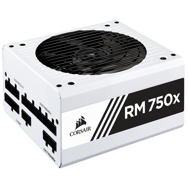 RMx White Series™ RM750x — 750 Watt 80 PLUS® Gold Certified Fully Modular PSU (WW)