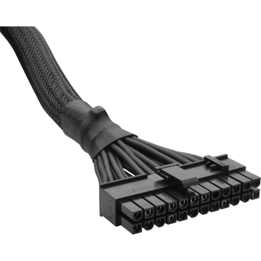 Type 3 Sleeved Black 24pin ATX Cable