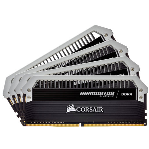 Kit de memória C10 DDR4 DRAM 2400 MHz 32 GB (4 x 8 GB) Dominator® Platinum Series