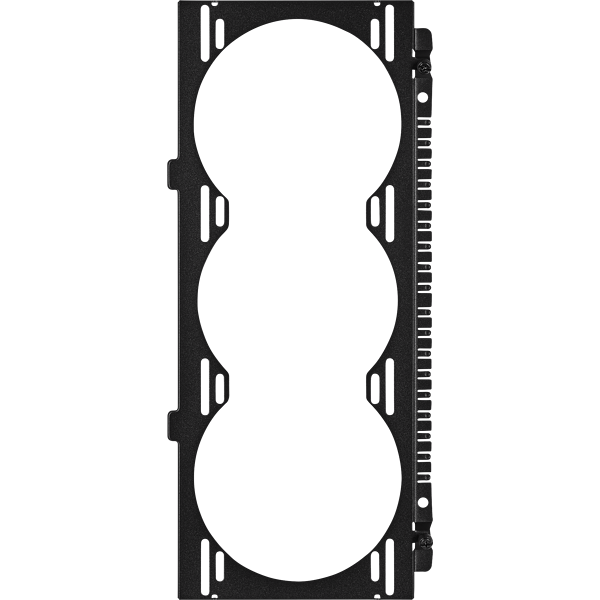 Crystal 680X RGB Front Fan Tray, Black