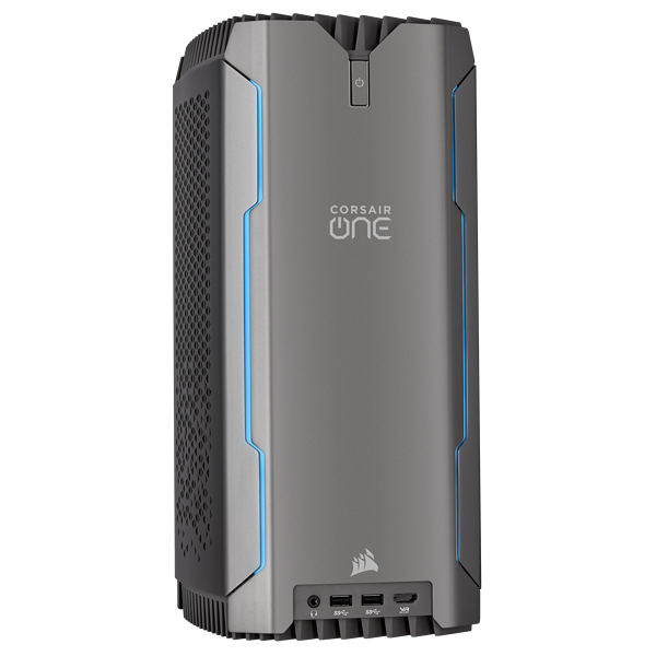 CORSAIR ONE PRO i180紧凑型工作站PC — Intel Core i9-9920X、NVIDIA GeForce RTX 2080 Ti、32GB DDR4-2666、960GB NVMe M.2 SSD、2TB HDD