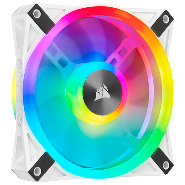 iCUE QL120 RGB 120mm PWM White Fan — Single Pack