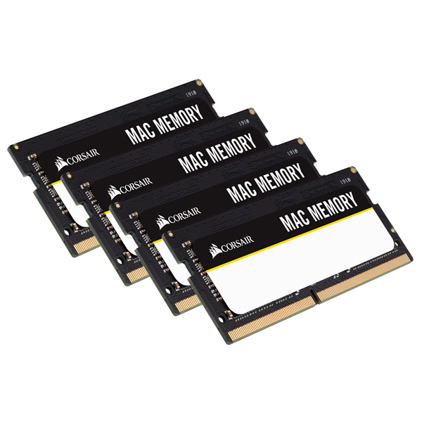 CORSAIR Mac Memory 64GB (4 x 16GB) DDR4 2666MHz C18 Memory Kit
