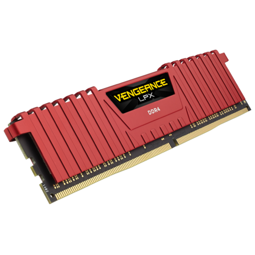 VENGEANCE® LPX 8GB (1 x 8GB) DDR4 DRAM 2400MHz C16 Memory Kit - Red