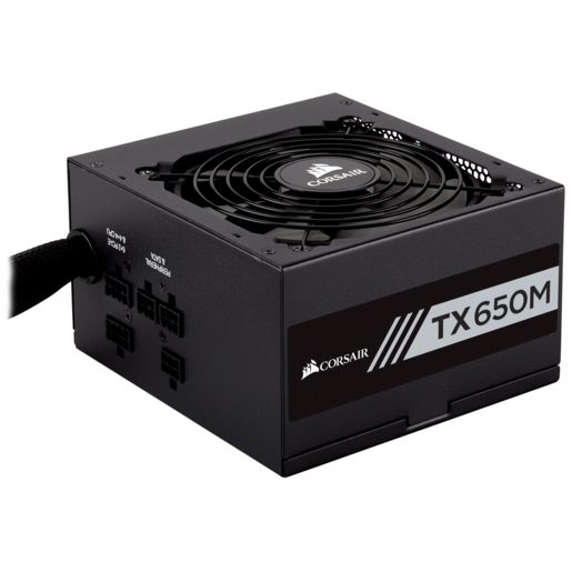 TX-M Series™ TX650M — 650 Watt 80 Plus® Gold Certified PSU
