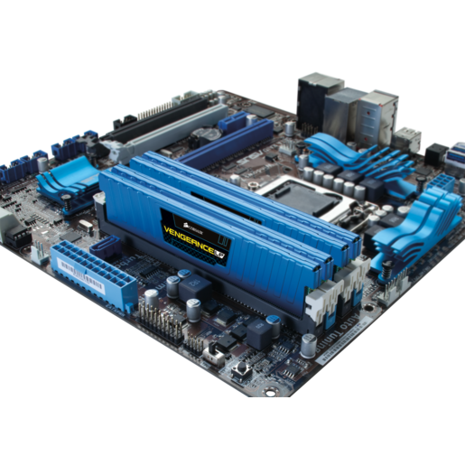 VENGEANCE® Low Profile Blue — 16GB Dual/Quad Channel DDR3 Memory Kit