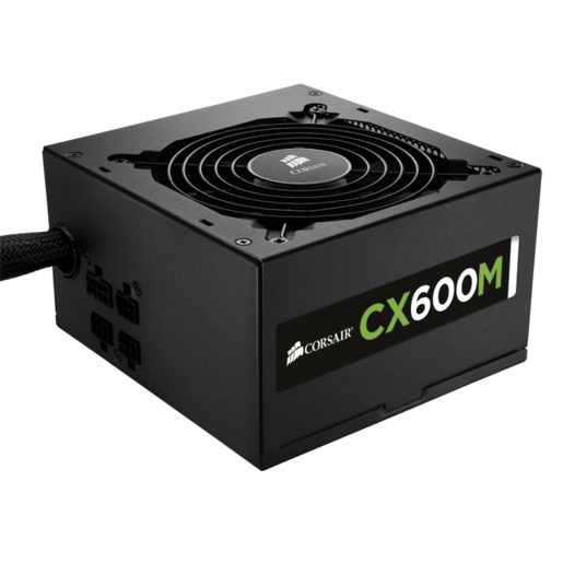 CX Series™ Modular CX600M ATX Power Supply — 600 Watt 80 PLUS® Bronze Certified Modular PSU (EU Plug)