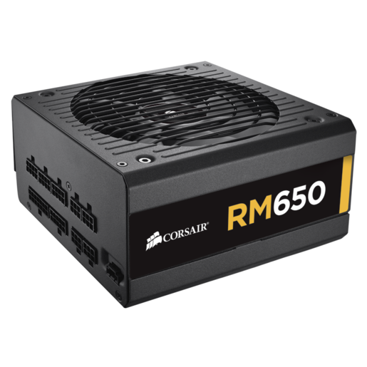 RM Series™ RM650 — 650 Watt 80 PLUS® Gold Certified Fully Modular PSU (EU Plug)