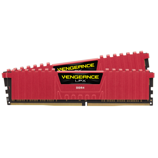 VENGEANCE® LPX 16GB (2 x 8GB) DDR4 DRAM 2400MHz C16 Memory Kit - Red