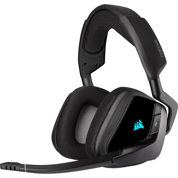 Headset gamer premium sem fio com som surround 7.1 VOID RGB ELITE, Carbono