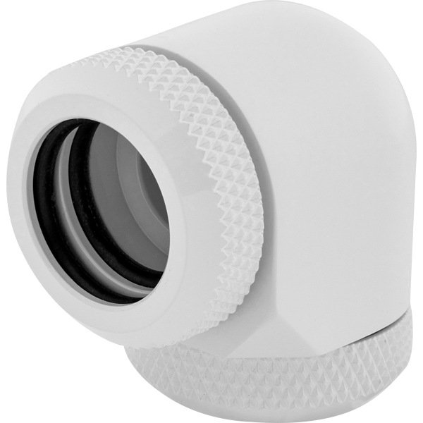Hydro X Series XF Hardline 90° 14mm OD Fitting Twin Pack — White