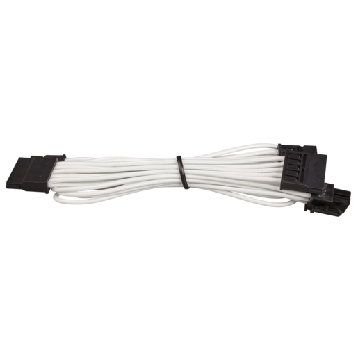 Premium Individually Sleeved SATA Cable, Type 4 (Generation 3) - White