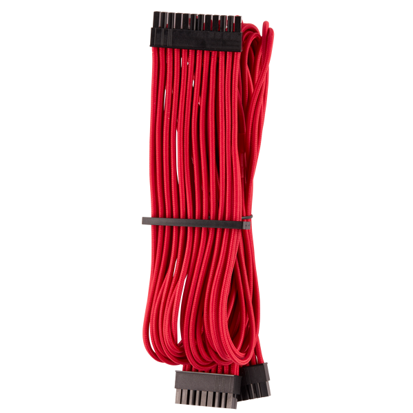 Premium Individually Sleeved ATX 24-Pin Cable Type 4 Gen 4 – Red