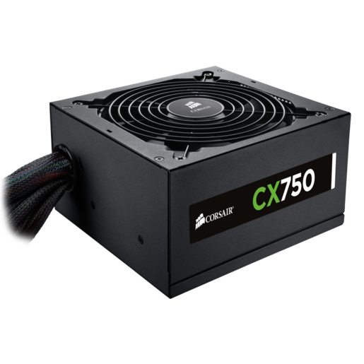 CX750 — 80 PLUS® Bronze Certified Power Supply (EU Plug)