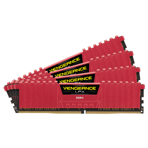 VENGEANCE® LPX 64GB (4 x 16GB) DDR4 DRAM 3333MHz C16 Memory Kit - Red