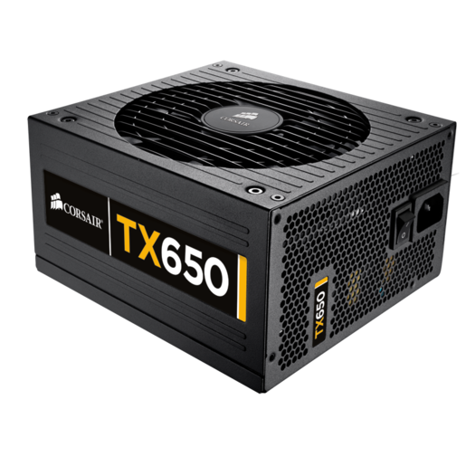 TX Series™ TX650 — 80 PLUS® Bronze Certified 650 Watt High Performance Power Supply (NA) (Refurbished)
