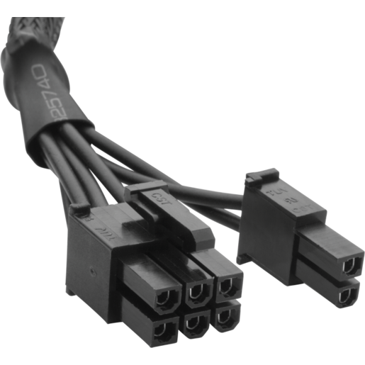 Type 3 Sleeved Black PCI-E Cable