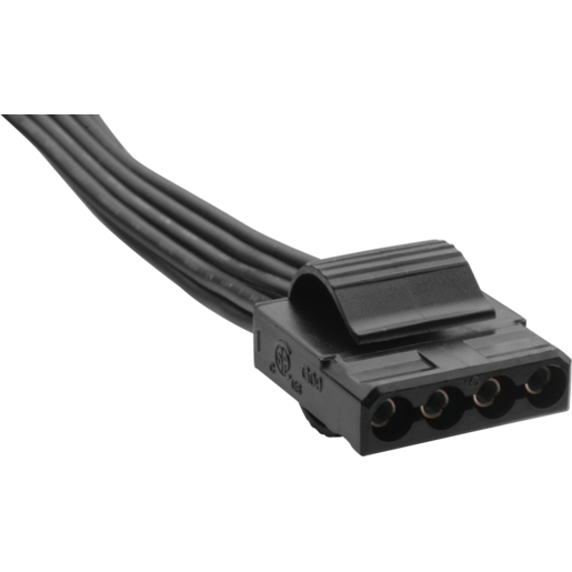 Type 3 Flat Black Peripheral Cable With 4 Connectors