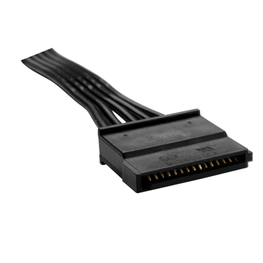 HX/TXM Series™ SATA peripheral cable with 4 connectors compatible with HX750, HX850, HX1000, HX1050, and all TXM PSU