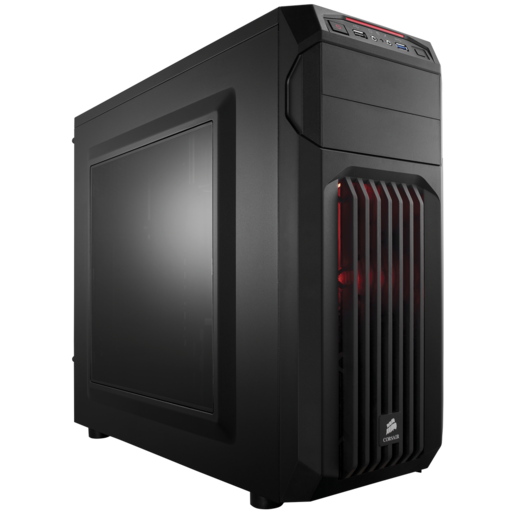 Carbide Series™ SPEC-01 Red LED Mid-Tower Gaming Case
