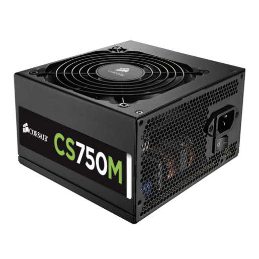 CS Series™ Modular CS750M — 750 Watt 80 PLUS® Gold Certified PSU (EU Plug)