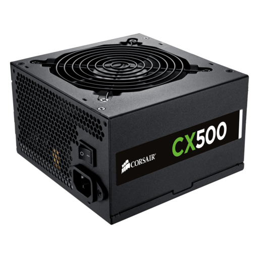 CX500 — 80 PLUS® Bronze Certified Power Supply (UK Plug)