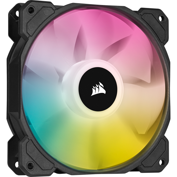 iCUE SP120 RGB ELITE Performance 120mm White PWM Fan — Triple Pack with Lighting Node CORE